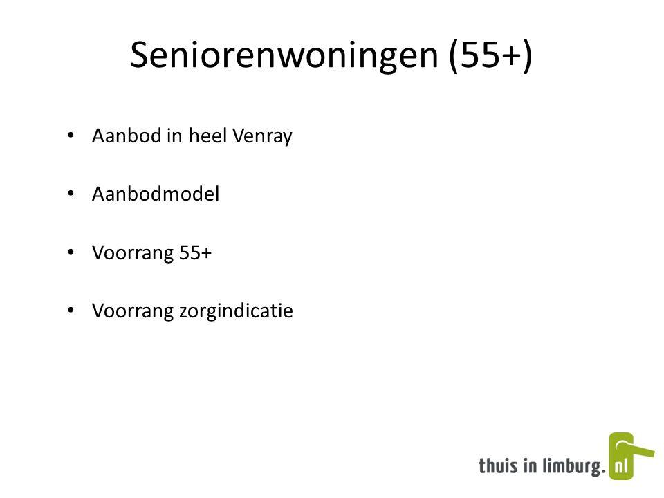 Seniorenwoningen (55+) Aanbod in heel Venray Aanbodmodel Voorrang 55+