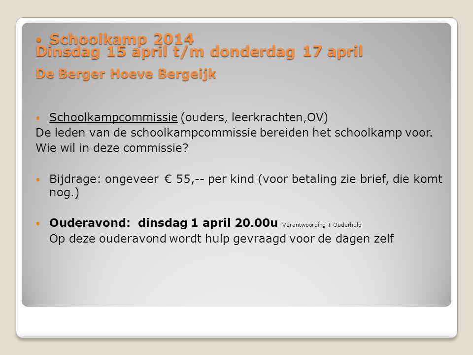 Dinsdag 15 april t/m donderdag 17 april De Berger Hoeve Bergeijk