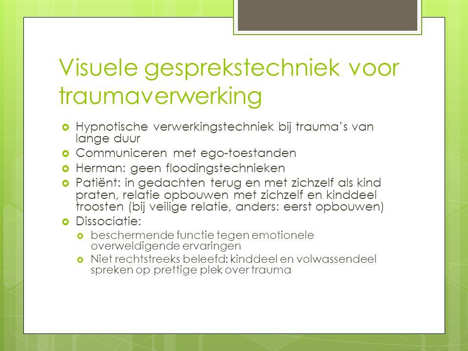 Visuele gesprekstechniek voor traumaverwerking