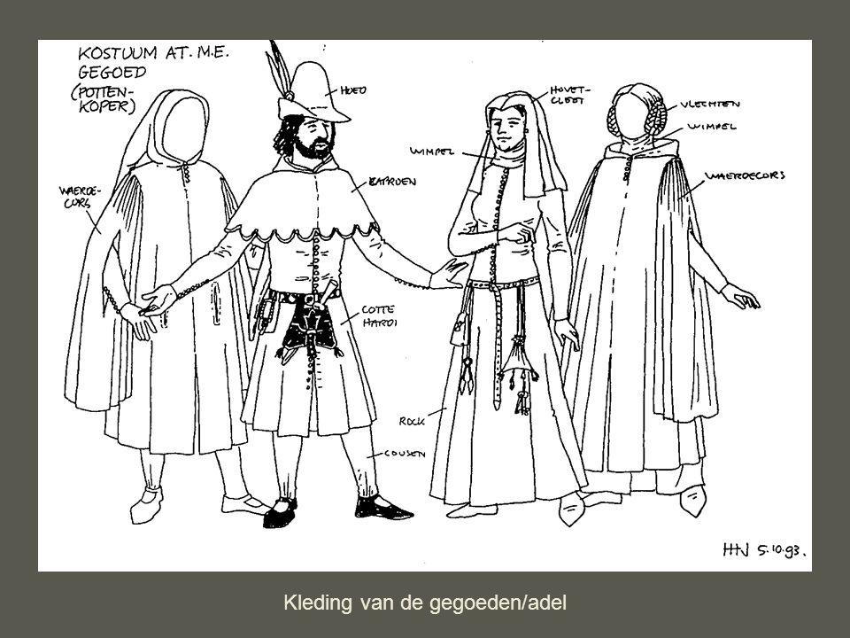 Kleding van de gegoeden/adel