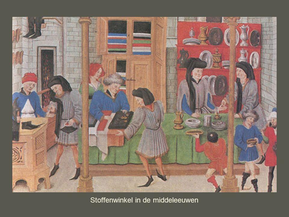 Stoffenwinkel in de middeleeuwen