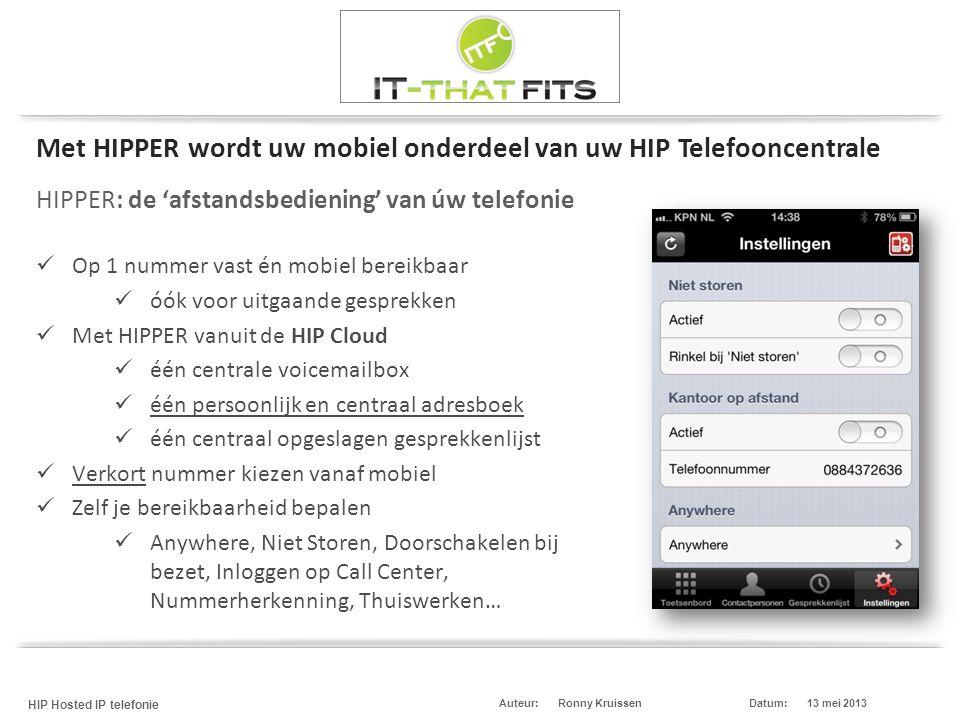 HIPPER: de 'afstandsbediening' van úw telefonie