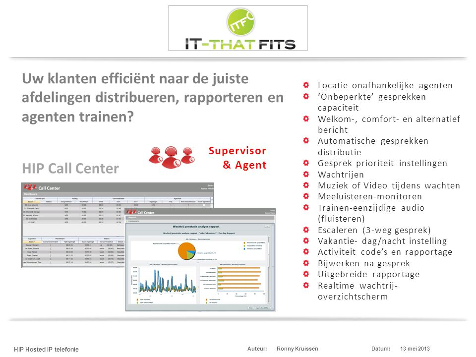 Uw klanten efficiënt naar de juiste afdelingen distribueren, rapporteren en agenten trainen