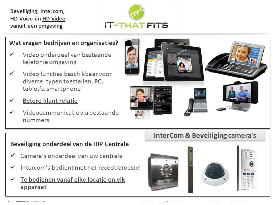 Beveiliging, Intercom, HD Voice én HD Video vanuit één omgeving