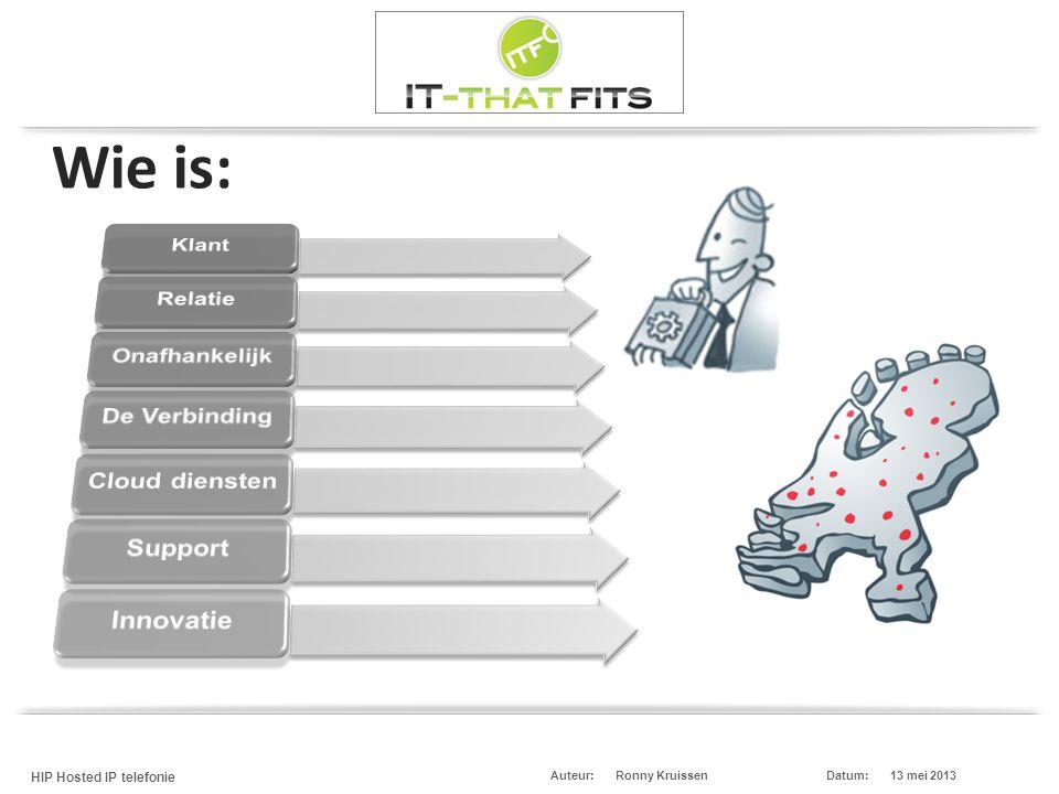 Wie is: Voorstellen met wie u zaken doet, uw diensten afneemt, wie u bent etc. (Partner) neemt verbindingen en diensten af van onze partner RoutIT.
