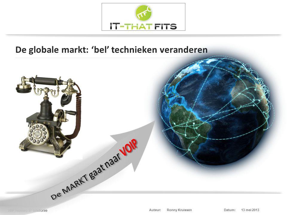 De globale markt: 'bel' technieken veranderen