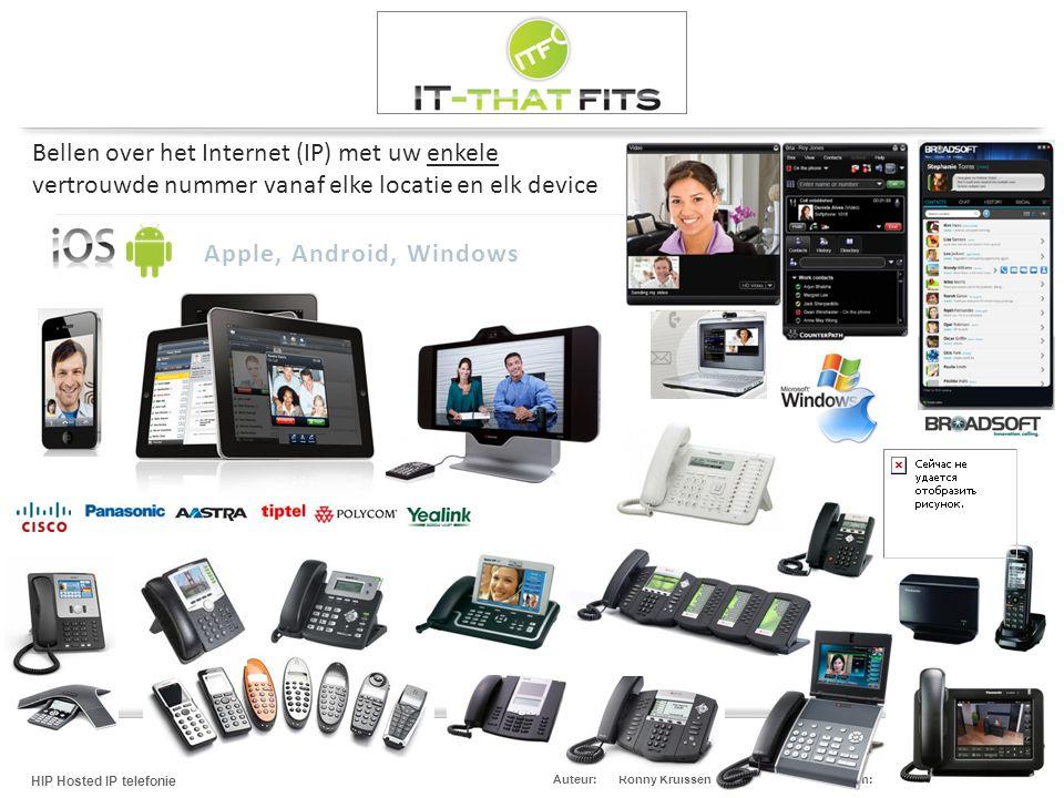 Bellen over het Internet (IP) met uw enkele vertrouwde nummer vanaf elke locatie en elk device