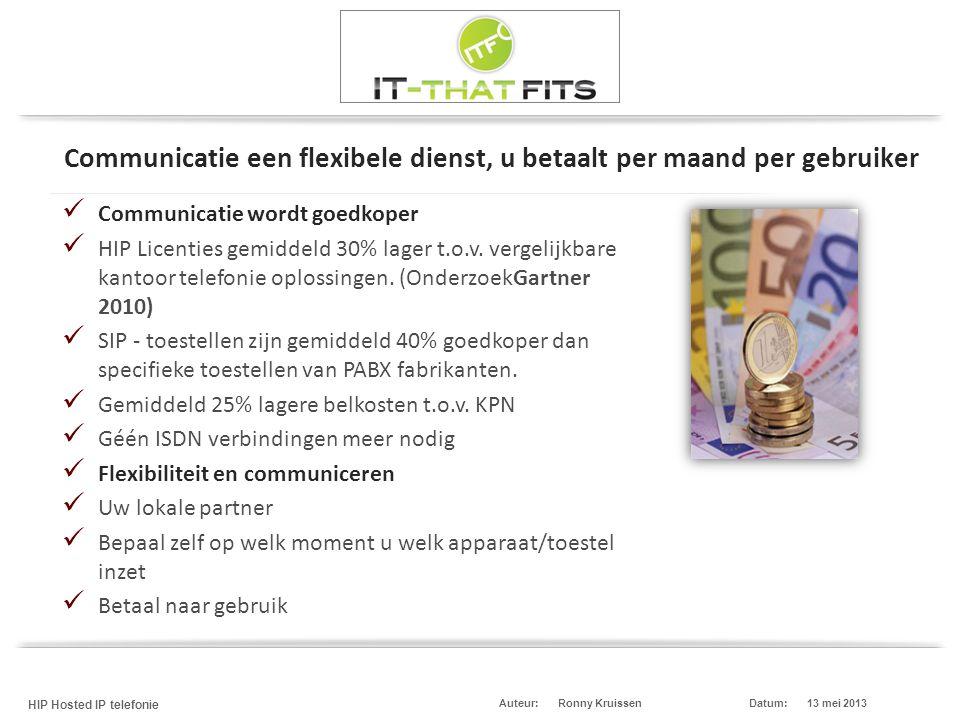 Communicatie een flexibele dienst, u betaalt per maand per gebruiker