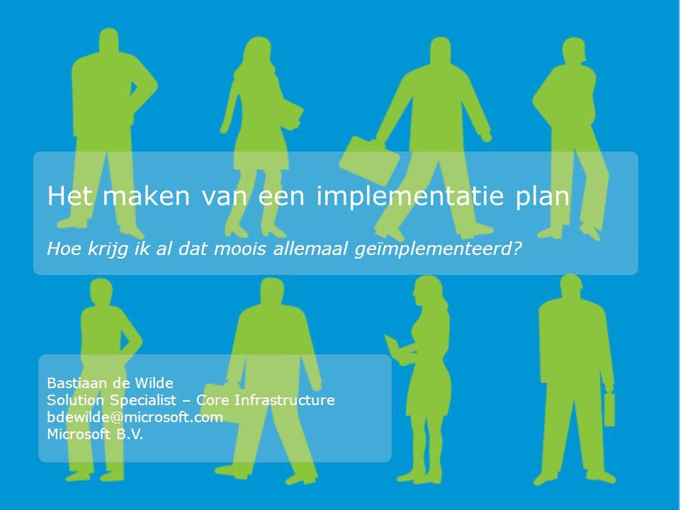 Het maken van een implementatie plan