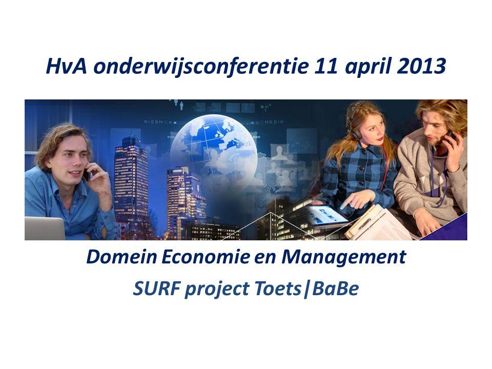 HvA onderwijsconferentie 11 april 2013