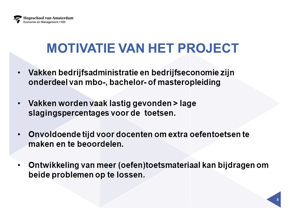 Motivatie van het Project