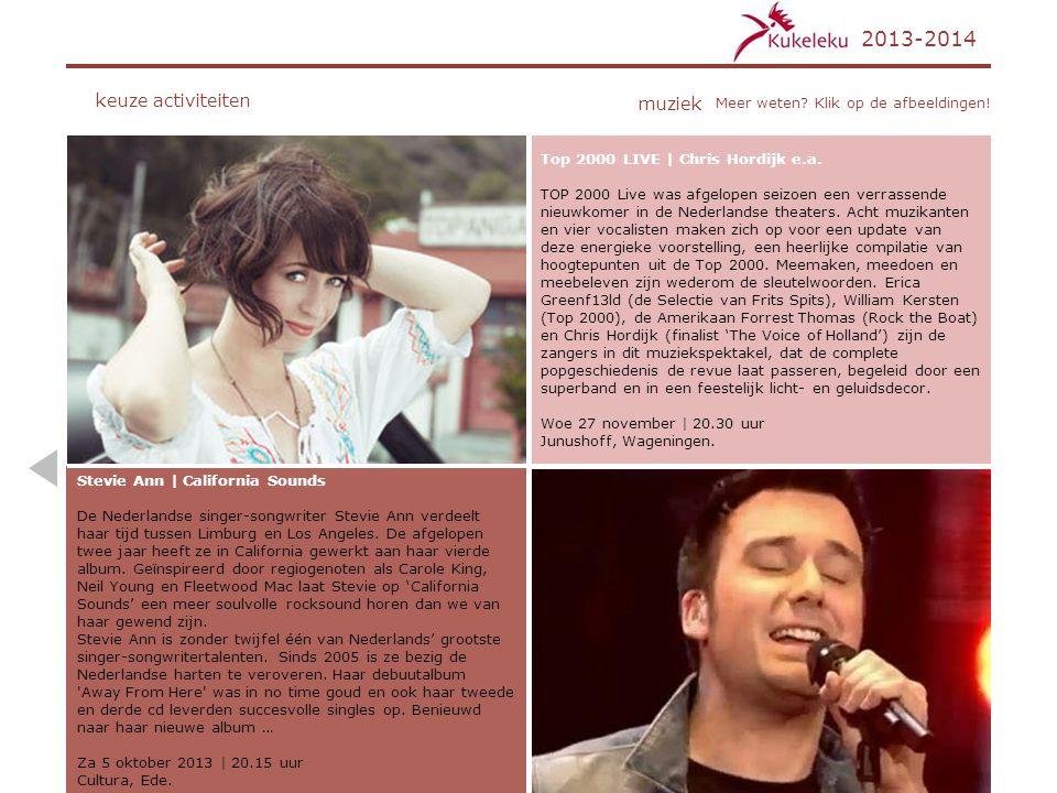 2013-2014 keuze activiteiten muziek