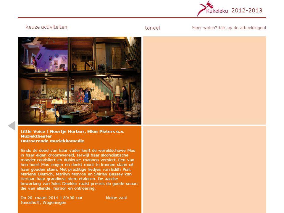 2012-2013 keuze activiteiten toneel