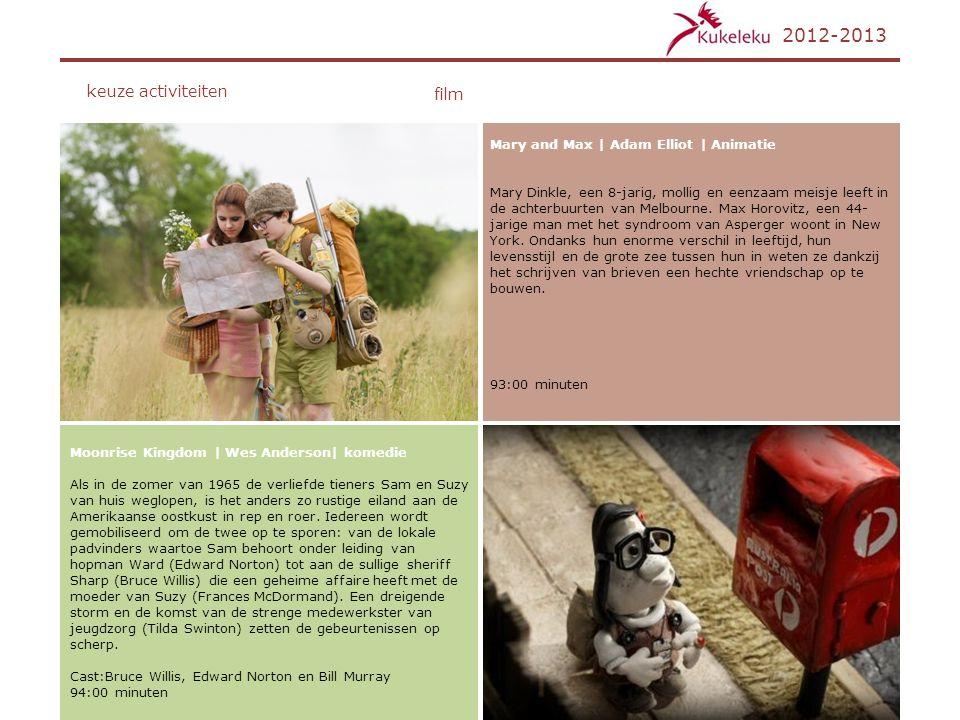 2012-2013 keuze activiteiten film