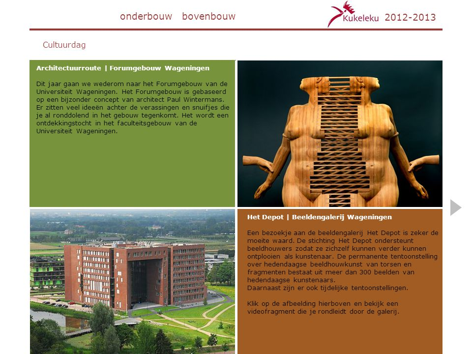 onderbouw bovenbouw 2012-2013 Cultuurdag