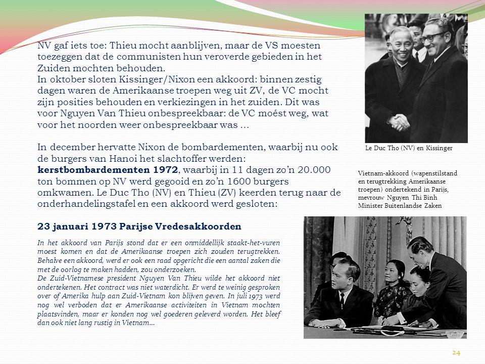 23 januari 1973 Parijse Vredesakkoorden