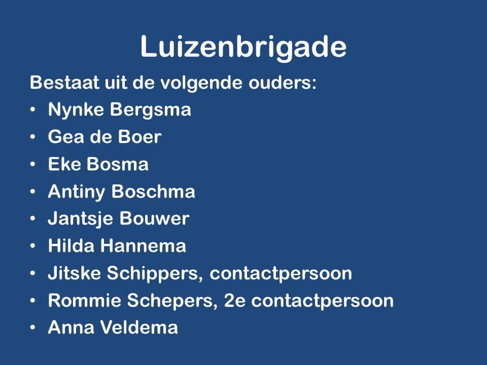 Luizenbrigade Bestaat uit de volgende ouders: Nynke Bergsma