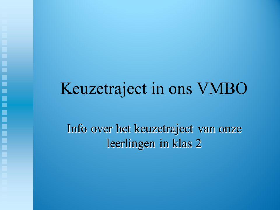 Keuzetraject in ons VMBO