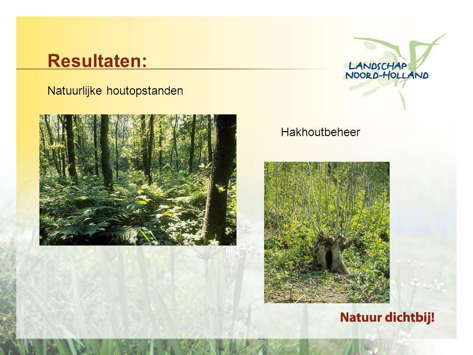 Resultaten: Natuurlijke houtopstanden Hakhoutbeheer