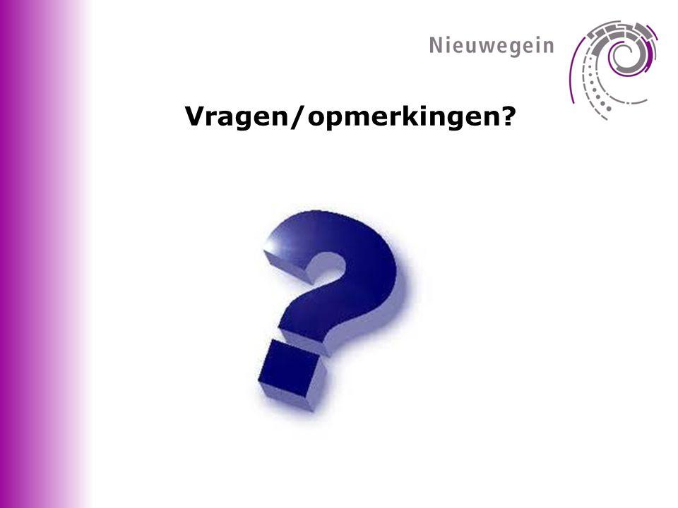 Vragen/opmerkingen