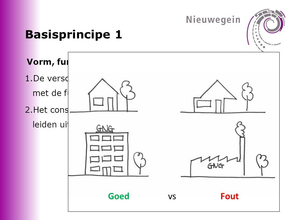 Basisprincipe 1 Goed vs Fout Vorm, functie en constructie