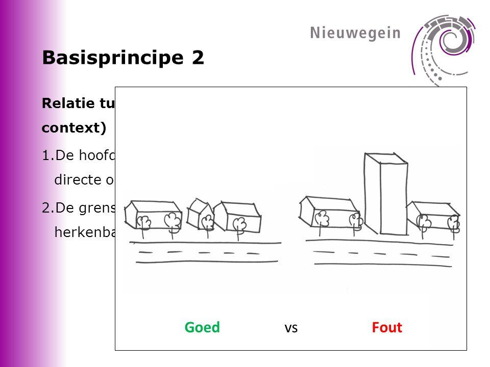 Basisprincipe 2 Goed vs Fout