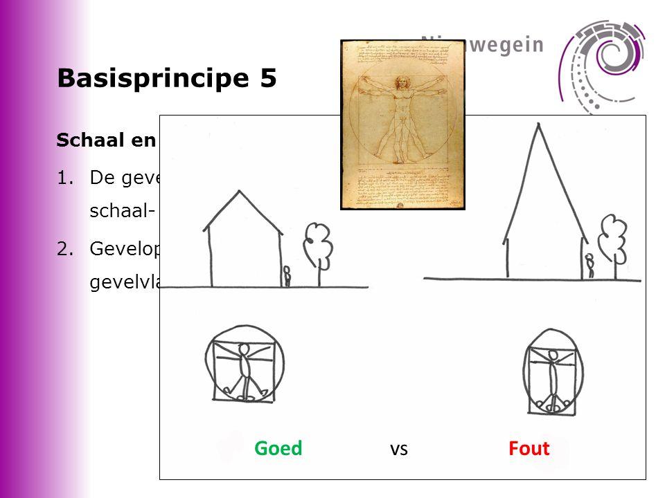 Basisprincipe 5 Goed vs Fout Schaal en maatverhoudingen