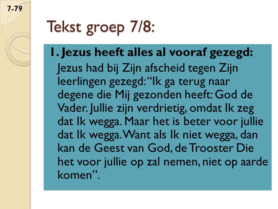 Tekst groep 7/8:
