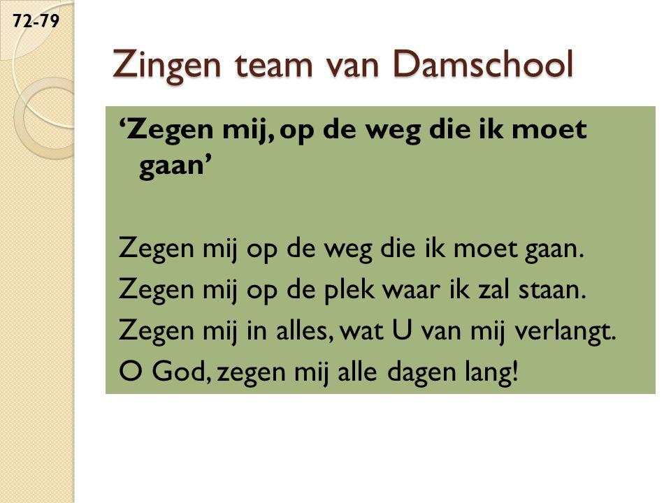 Zingen team van Damschool