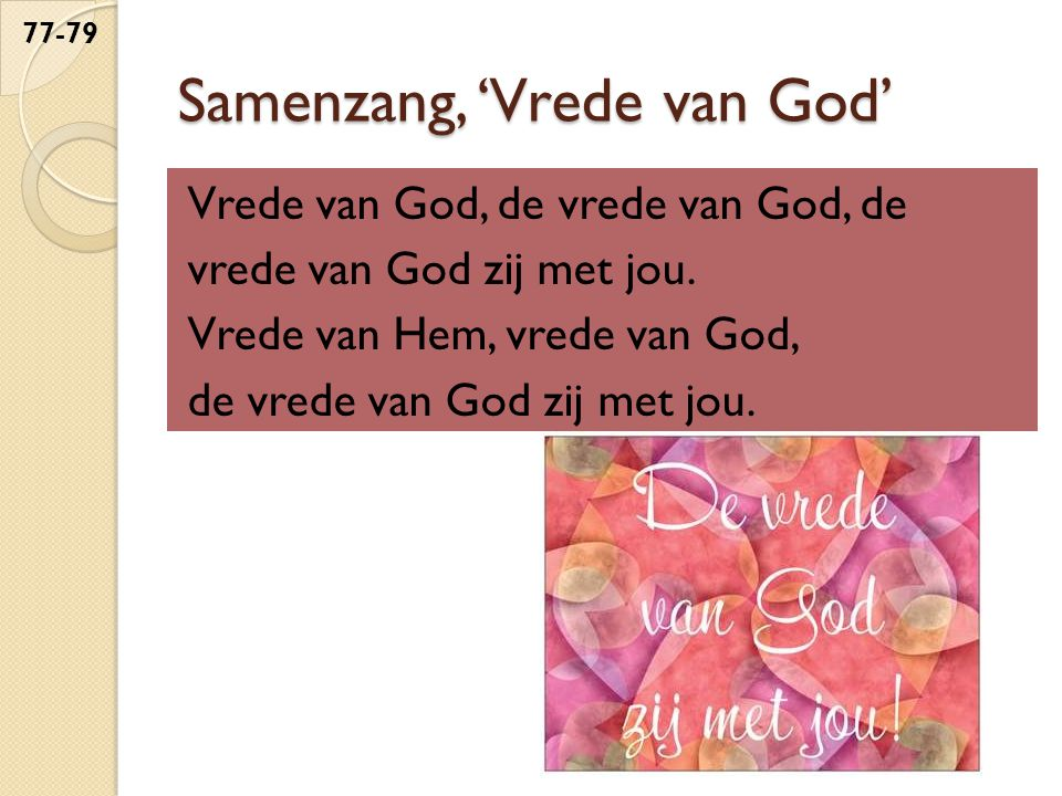 Samenzang, 'Vrede van God'