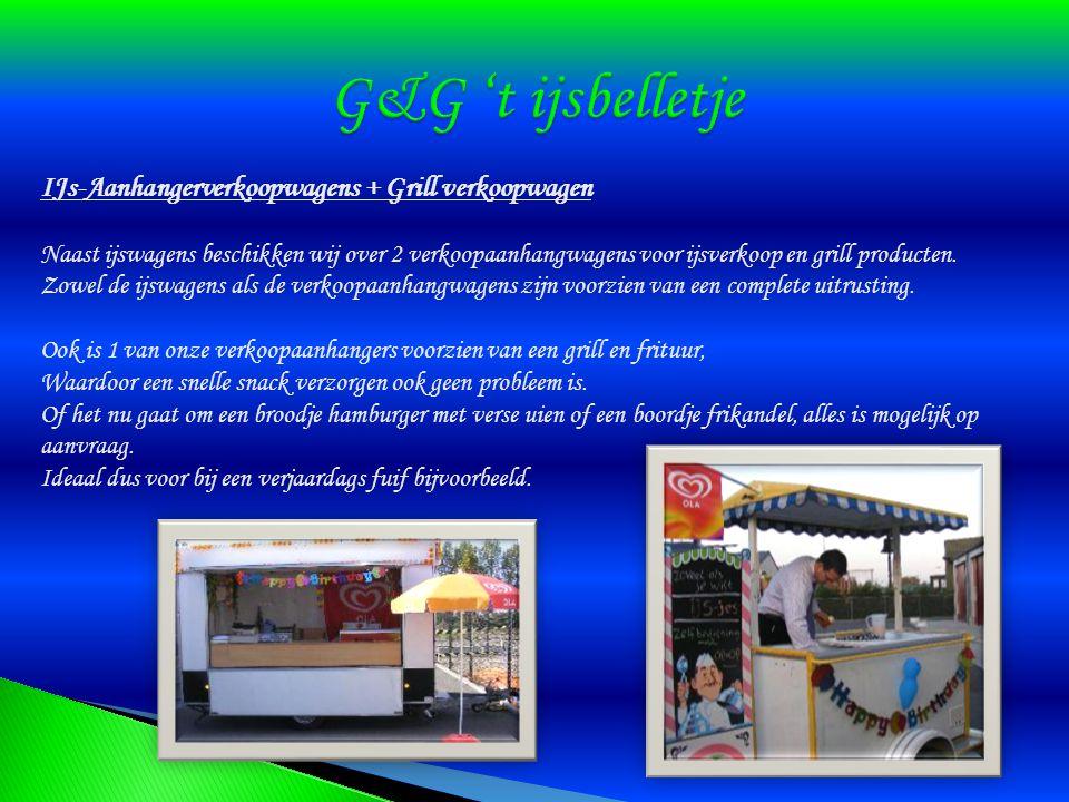 G&G 't ijsbelletje IJs-Aanhangerverkoopwagens + Grill verkoopwagen