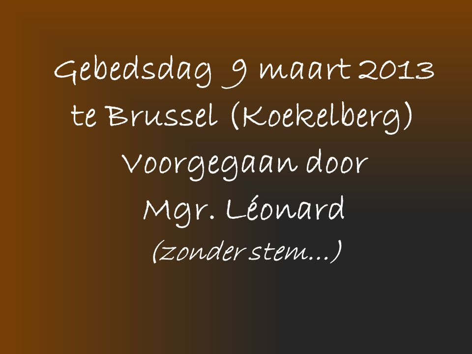 te Brussel (Koekelberg)