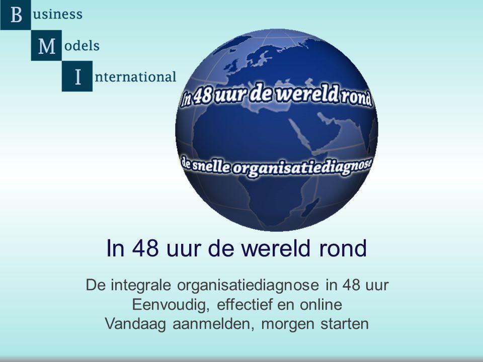 In 48 uur de wereld rond De integrale organisatiediagnose in 48 uur
