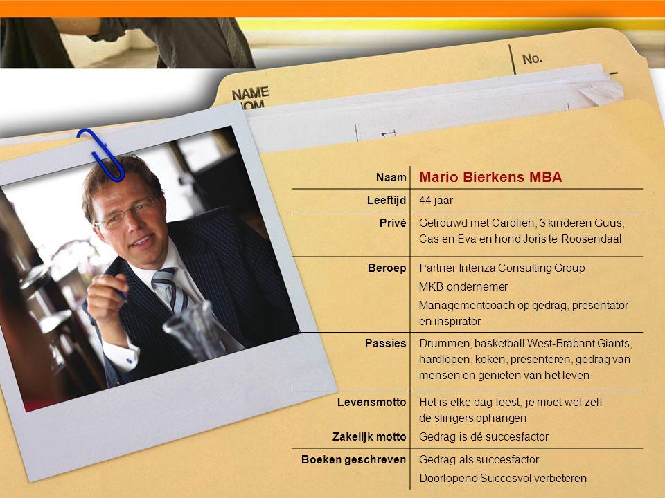 Mario Bierkens MBA Naam Leeftijd 44 jaar Privé