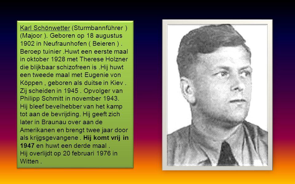 Karl Schönwetter (Sturmbannführer ) (Majoor )