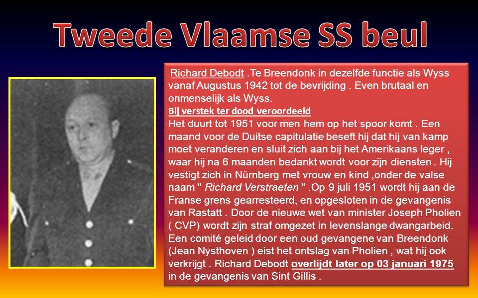Tweede Vlaamse SS beul Bij verstek ter dood veroordeeld