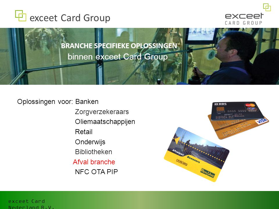 exceet Card Group binnen exceet Card Group