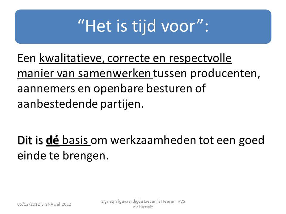 Signeq afgevaardigde Lieven s Heeren, VVS nv Hasselt