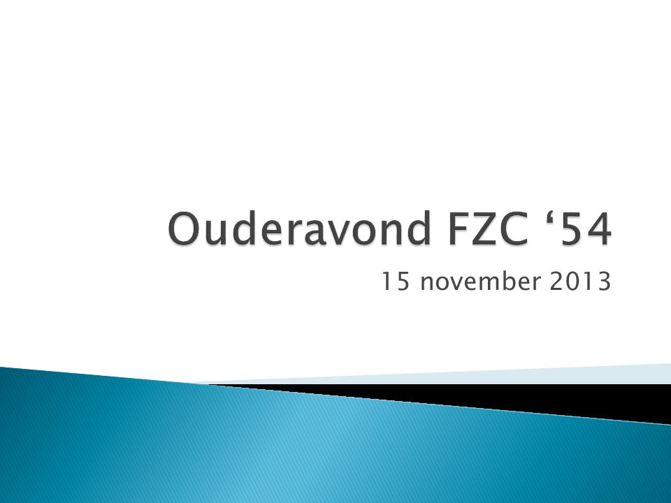 Ouderavond FZC '54 15 november 2013