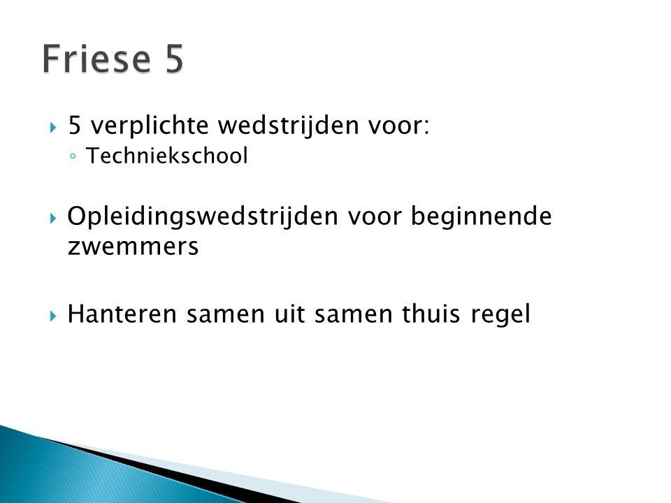 Friese 5 5 verplichte wedstrijden voor: