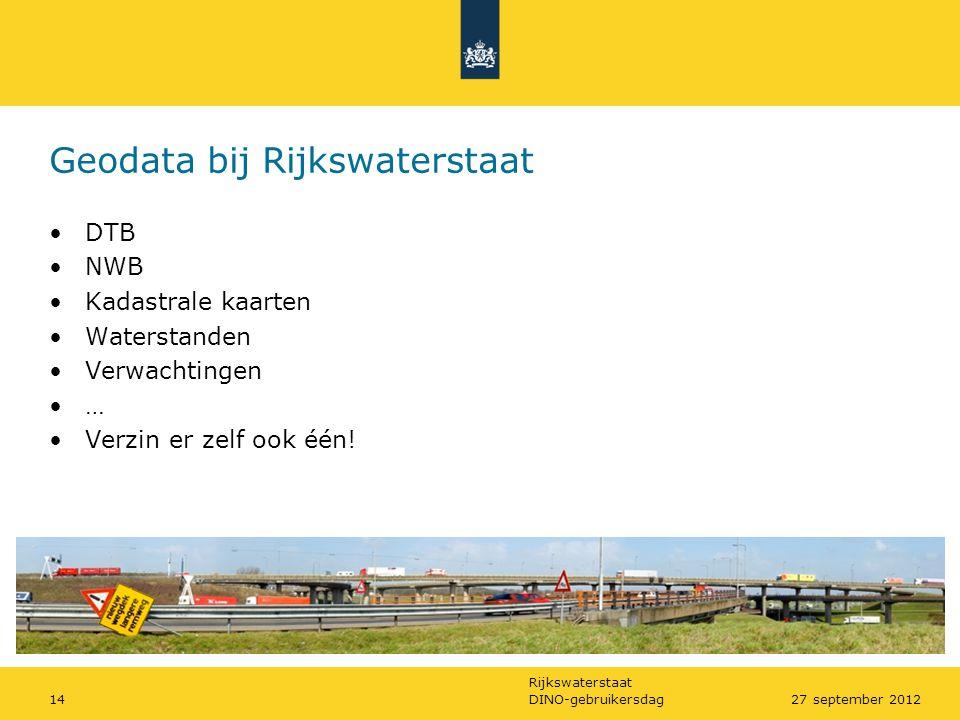 Geodata bij Rijkswaterstaat