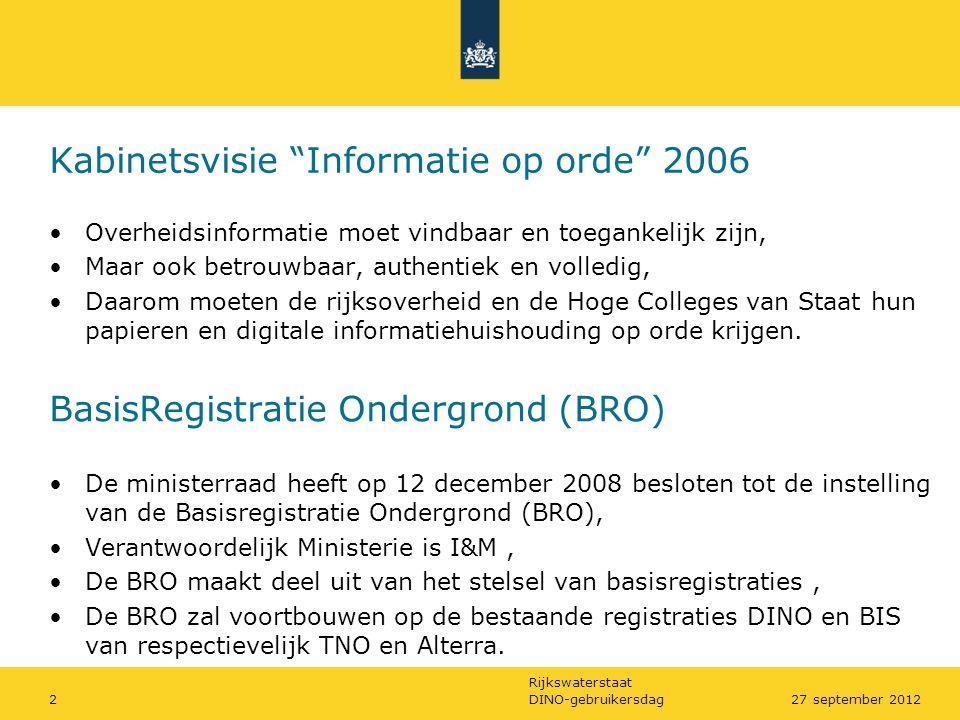 Kabinetsvisie Informatie op orde 2006