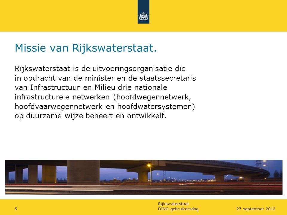 Missie van Rijkswaterstaat.