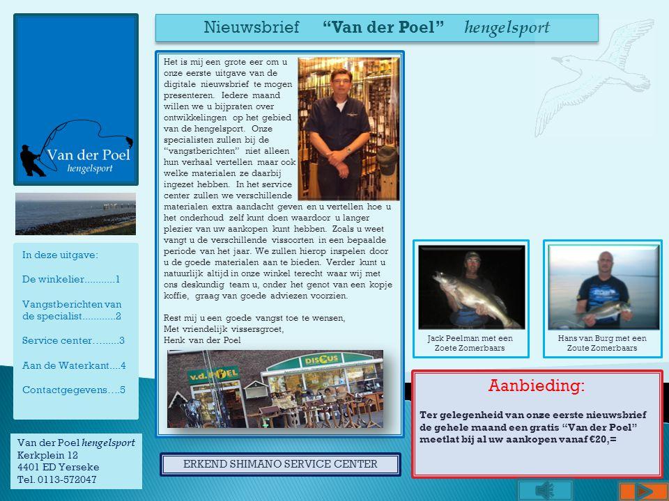 Nieuwsbrief Van der Poel hengelsport