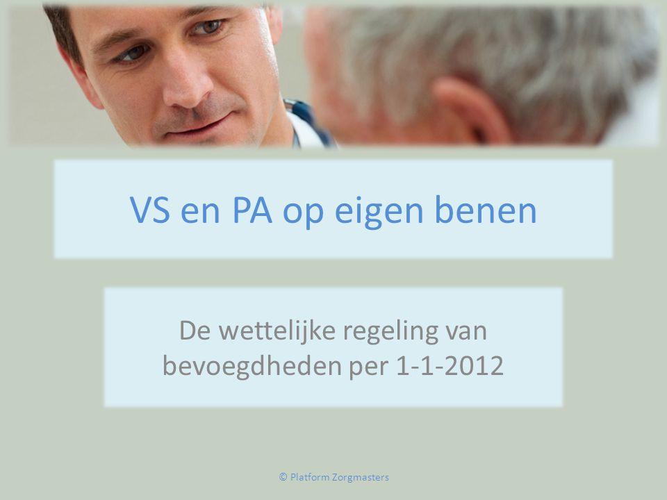 De wettelijke regeling van bevoegdheden per 1-1-2012