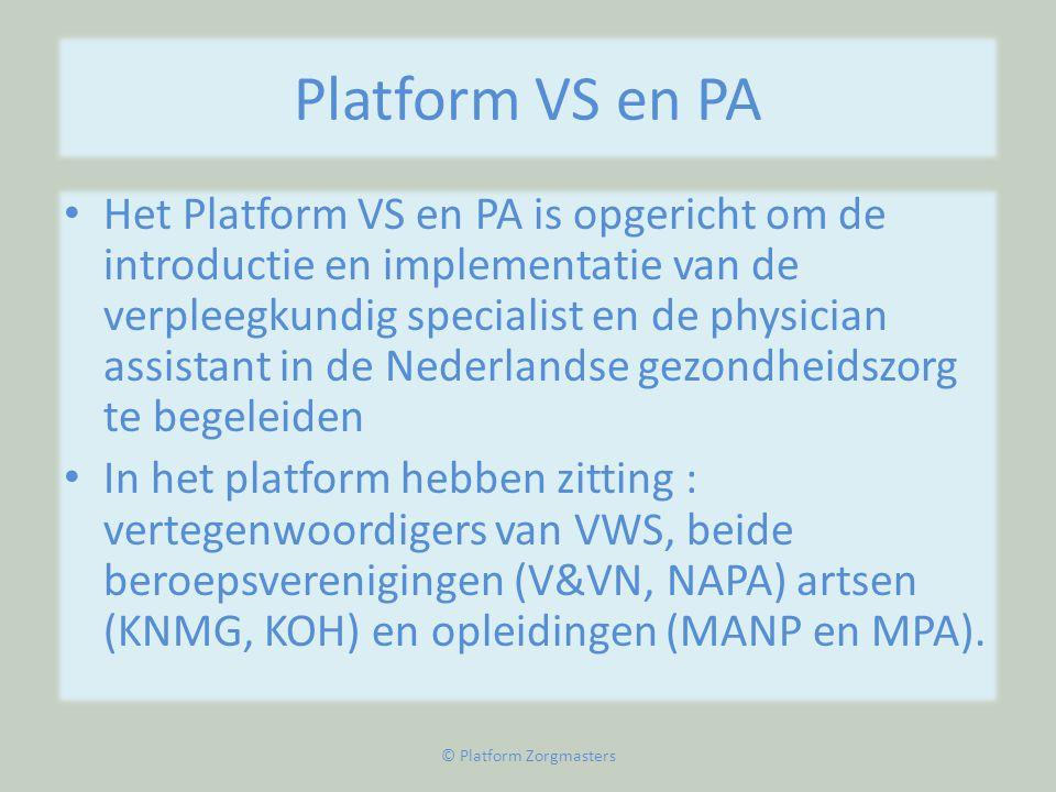 © Platform Zorgmasters