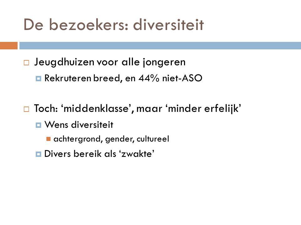 De bezoekers: diversiteit