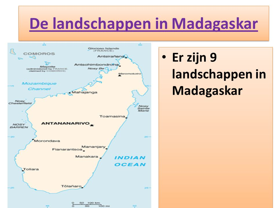 De landschappen in Madagaskar