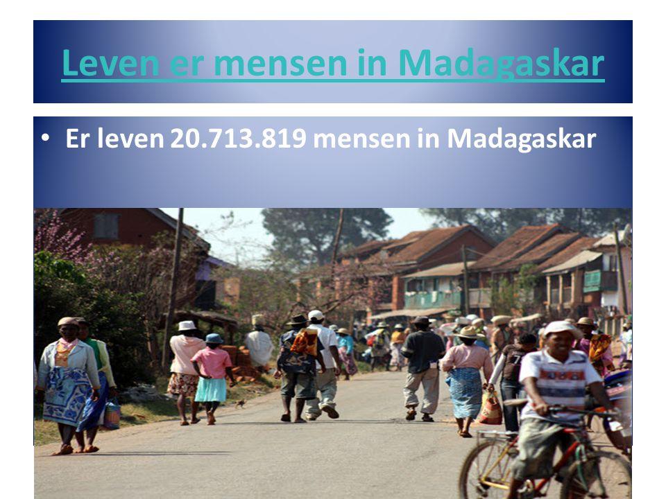 Leven er mensen in Madagaskar