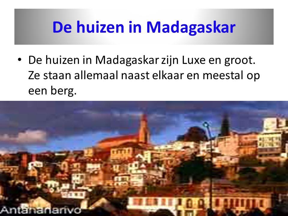 De huizen in Madagaskar